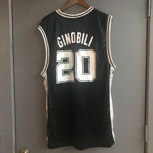 Reebok Shirts - San Antonio Spurs Manu Ginobili Jersey 70220cfad